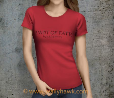 Twist of Fate Shirt - Female Heather Red