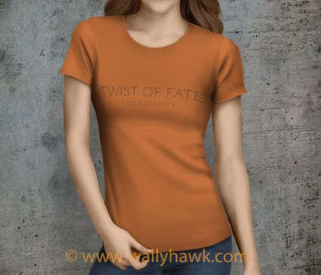 Twist of Fate Shirt - Female Sunset Orange
