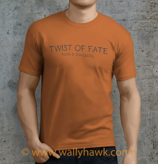Twist of Fate Shirt - Male Sunset Orange