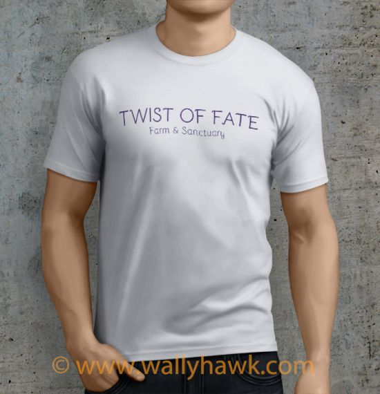 Twist of Fate Shirt - Male Sunset White