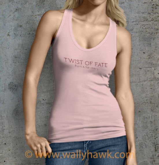 Twist of Fate Tank Top - Female Pink