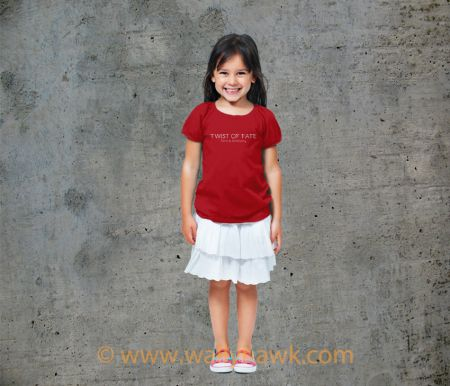 Twist of Fate Youth Shirt - Girl Red