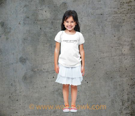 Twist of Fate Youth Shirt - Girl White