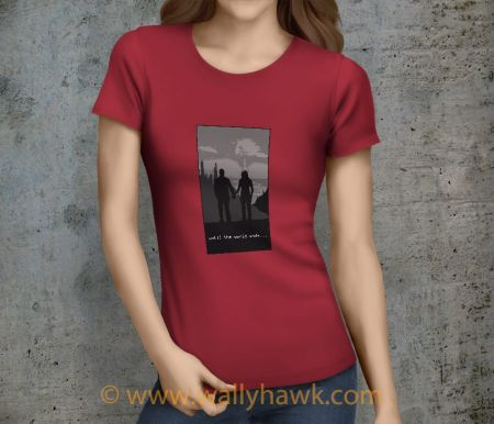 Until the World Ends Shirt - Male Crimson